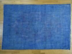 8and0392x12and039 Handknotted Blue Overdyed Kerman 100 Percent Wool Oriental Rug G34766