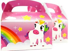 24pk Magical Unicorn Pink Rainbow Treat Birthday Goodie Boxes Candy Fillers Lot