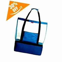 Mesh Beach Bag Beach Tote Bag With Romovable Picnic Cooler.