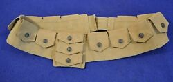 Excellent Rare Us M1912 Eagle Snap Cavalry Bandoleer For 1903 Springfield Rifle