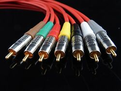 New Belden 1505a High Quality/ Studio Grade Multi-channel Rca Audio Cables