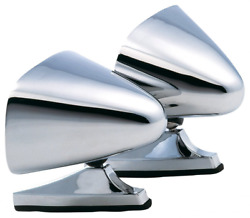 Dual Vintage Style Chrome Sport Bullet Mirrors For Hot Rods Classic Muscle Car