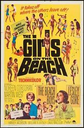 Girls On The Beach One Sheet Movie Poster 27x41 Surf Beach Boys Lesley Gore