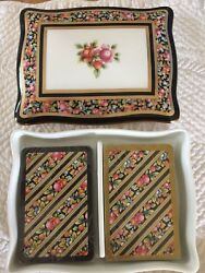 Wedgwood Double Deck Playing Card Holder Set Bone China Box And Lid New