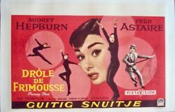 Funny Face Belgian Movie Poster Audrey Hepburn Fred Astaire 1957 Nm Linen Backed