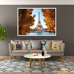 3d Eiffel Tower 6 Fake Framed Poster Home Decor Print Painting Unique Art Summer