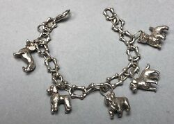 Tiffany Alliance Sterling Dog Charm Bracelet - Poodle Dachshund Labrador Terrier