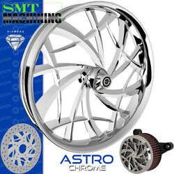 Smt Machining Astro Chrome Front Wheel Harley Touring Bagger 21