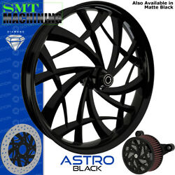 Smt Machining Astro Black Front Wheel Harley Touring Bagger 21
