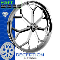 Smt Machining Deception Chrome Front Wheel Harley Touring Bagger 21