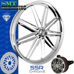 Smt Machining Ssr Chrome Front Wheel Harley Touring Bagger 21