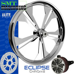 Smt Machining Eclipse Chrome Front Wheel Harley Touring Bagger 21
