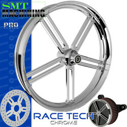 Smt Machining Race Tech Chrome Front Wheel Harley Touring Bagger 21