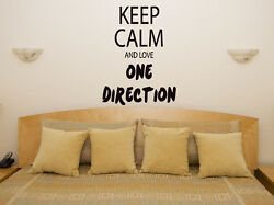 Keep Calm And Love One Direction 1d Childrens Bedroom Decal Wall Sticker Picture