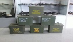 US Military Surplus 50 CAL M2A1 Ammo Can LOT OF 6 Airtight Steel 12x6.5x7.5