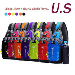 Waterproof Unisex Chest Bag Outdoor Sport Travel Shoulder Backpack + Kettle bag