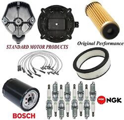 Tune Up Kit Filters Cap Spark Plugs Wire For Chevrolet C10 V8 7.4l W/o Ac 1976