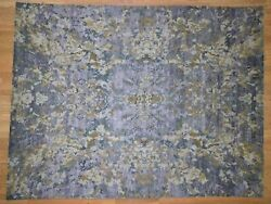 8'10x11'7 Abstract Design Wool And Silk Handknotted Oriental Rug G41057