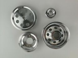 Lightweight Pulley Kit Fit Toyota Supra 7mgte 7m-gte 86-92 Polished 4pcs