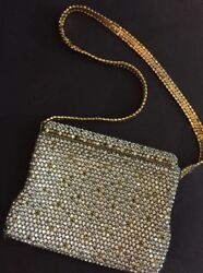 L'ETOILE  by PAM  Vintage Evening Bag Rhinestone Purse Made in Austria