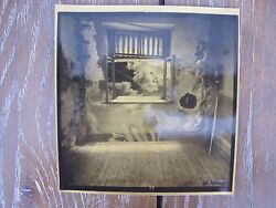 Jan Saudek Kissing In Front Of Window Rare Signed Photograph