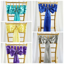 150 New Satin Chair Sashes Bows Ties Wedding Party Diy Decorations Wholesale