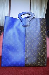 Louis Vuitton LV Men Women Split eclipse Tote Bag Kim Jones 2018 Blue NYC POP UP
