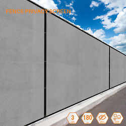 Light Gray 4FT  Fence Windscreen Privacy Screen Shade Cover Fabric Mesh Garden