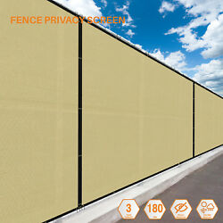 Beige 5FT 180GSM Fence Windscreen Privacy Screen Shade Cover Fabric Mesh Garden