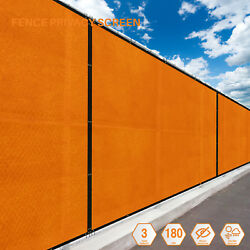 Orange 5FT 180GSM Fence Windscreen Privacy Screen Shade Cover Fabric Mesh Garden