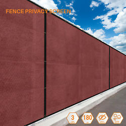 Red 5FT  180GSM Fence Windscreen Privacy Screen Shade Cover Fabric Mesh Garden