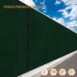 Green 5FT 180GSM Fence Windscreen Privacy Screen Shade Cover Fabric Mesh Garden