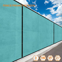 Turquoise 5FT  Fence Windscreen Privacy Screen Shade Cover Fabric Mesh Garden