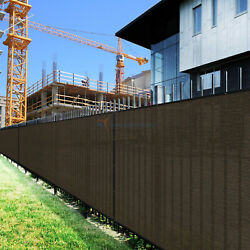 Brown 9ft 180gsm Fence Windscreen Privacy Screen Shade Cover Fabric Mesh Garden