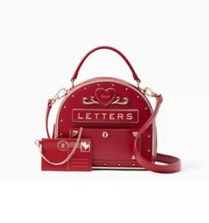 RARE BRAND NEW PKG KATE SPADE YOURS TRULY LOVE LETTERS RED MAILBOX-PXRU8345