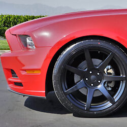 Project 6gr Seven 20x10 Satin Black Concave Wheels For S197 Mustang Gt V6