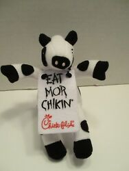 Chick Fil A Plush Cow with Eat More Chicken Sign Plackard 6 Inch