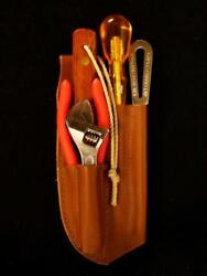 Captain Currey Deluxe 5-pc Rigging Knife Marlinspike Tool Kit W/ Leather Sheath