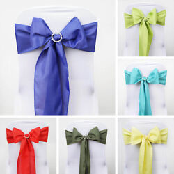 150 Polyester Chair Sashes Ties Bows Wedding Party Ceremony Decorations Sale