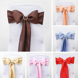 200 Polyester Chair Sashes Ties Bows Wedding Party Wholesale Decorations Sale