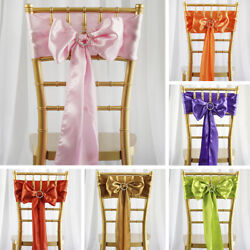 300 Wholesale Lot Satin Chair Sashes Ties Bows Wedding Party Decorations Sale
