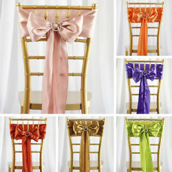 200 Wholesale Lot Satin Chair Sashes Ties Bows Wedding Party Decorations Sale