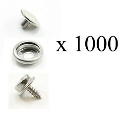 Dot Durable Stainless Steel Cap Socket And Stud - 1000 Sets - Marine Hardware