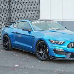 Project 6gr Five R-spec 19x11 Satin Black Wheels For S550 Shelby Gt350r