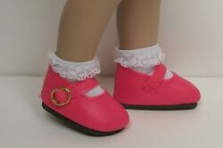 Dk Pink Basic Mary Jane Doll Shoes For Helen Kishand039s 11 Bitty Bethany Debs
