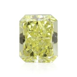 1.01cts Fancy Light Yellow Loose Diamond Natural Color Radiant Cut Gia Cert