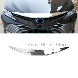 Abs Chrome Front Bumper Engine Hoods Cover Trim For Toyota Camry 18-21 L Le Xle