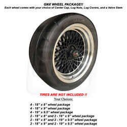 1987 Gnx Reproduction Aluminum Wheels Rim Size 18andrdquo Or 19 And Center Cap Choices