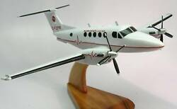 Beechcraft King Air 200 Airplane Wood Model Replica Large Free Shipping