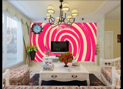 3d Sweet Pink Candy 4 Wall Paper Wall Print Decal Wall Deco Indoor Wall Murals